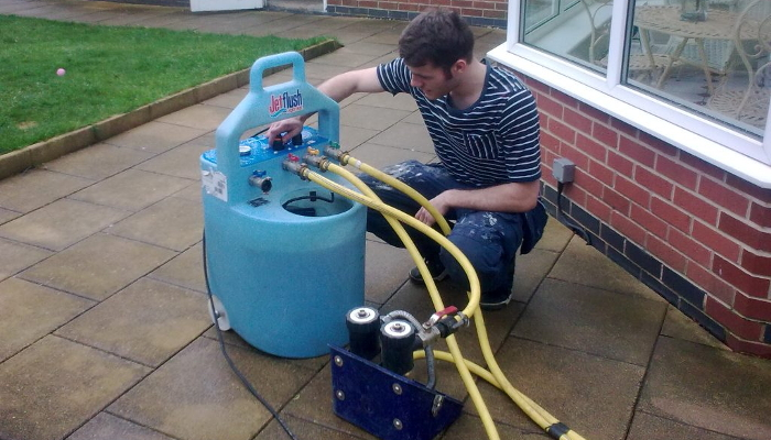 cost of power flushing central heating
