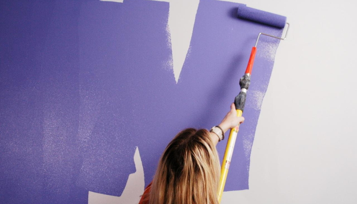 painting a living room